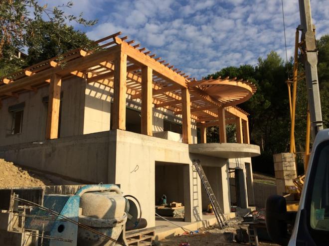 chantier Villa L. Vence - novembre 2020